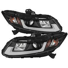 Штатная для Honda Civic LED головная оптика SN Type 2012 по 2013 год, фото 3