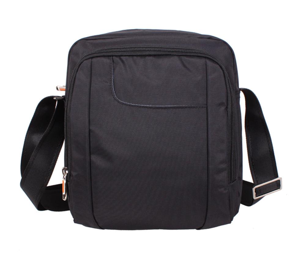 Мужская тканевая сумка через плечо NL242-31 черная