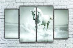 """Модульна картина"""" Кінь білий"""""""