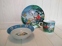 Детский набор посуды из керамики Ну погоди, 3 предмета