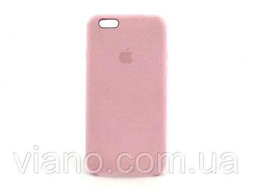 Замшевый чехол iPhone 6/6S (Розовый) Alcantara case