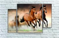 """Модульна картина"""" Два коня"""""""