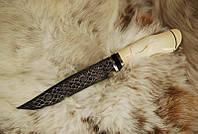 """Нож """"Мамонт"""" рукоять из бивня мамонта рог буйвола мозаичный дамасск"""