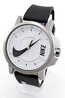 Наручные спортивные часы Nike, Найк черные с белым