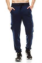 Мужские спортивные штаны 377 темно-синие