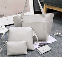 Серый набор женских сумок, фото 1
