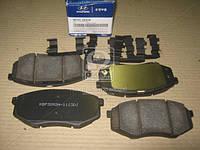 Колодки тормозные передние дисковые Hyundai Sonata 10- (производство Mobis) (арт. 581013SA26), AGHZX