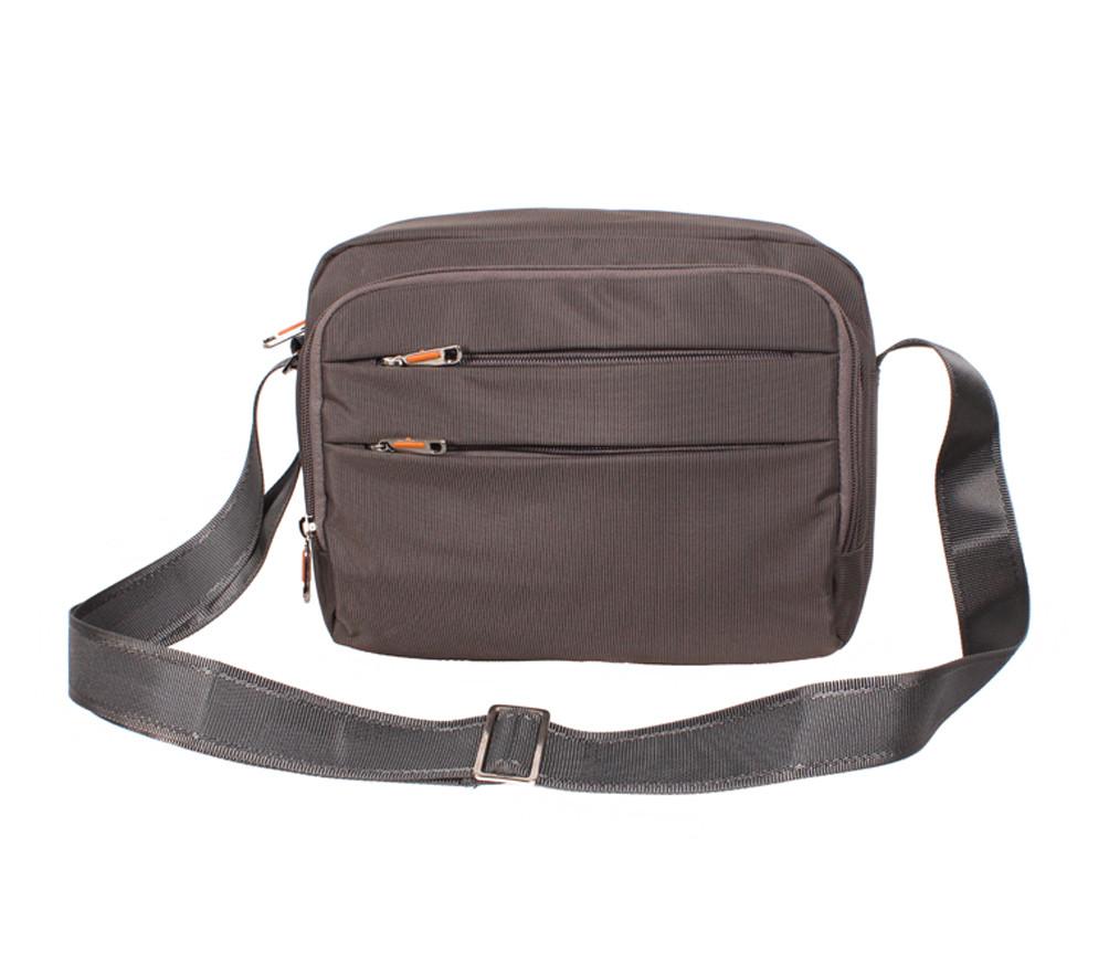 Мужская тканевая сумка через плечо горизонтального типа NL6338-32 серо