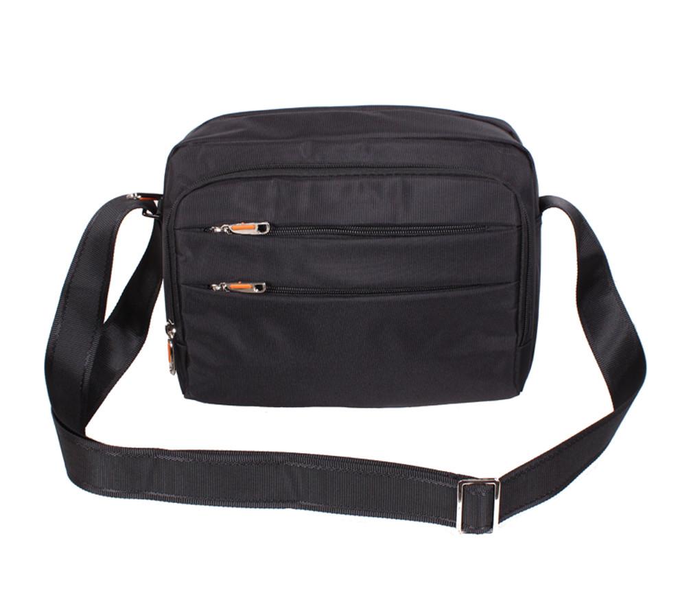 b48ac425ef2f Мужская тканевая сумка через плечо горизонтального типа NL6338-31 черная -  АксМаркет в Киеве