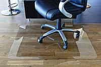 Защитные напольные коврики под офисное кресло 0.8мм. с закругленными краями 1,0*1,25м. прозрачный