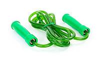Скакалка скоростная TWINS SR-2-GR (резина, пластик, l-2,84м с ручками, с подшипником,зеленая)