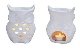 """Аромалампа """"Сова"""" белая керамическая. Подарки в стиле прованс"""
