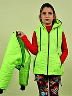 Детская куртка ветровка трансформер для девочки 8, 9, 10, 11, 12 лет. Демисезонная весна