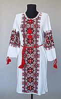 Туника- вышиванка женская вязанная красная вышивка