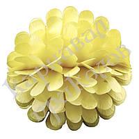 Бумажный шар цветок 20см (желтый 0019)