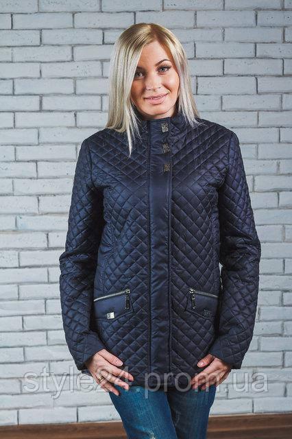 ЖІноча весняна стегана куртка.Р-ри 42-58  продажа b89715a0c1ed9