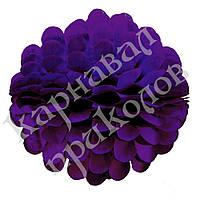 Бумажный шар цветок 20см (фиолетовый 0021), фото 1