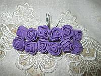 Роза 2,5 см фіолетовий