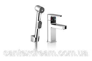 Смеситель для умывальника с гигиеническим душем Ravak Chrome  без открывания стока