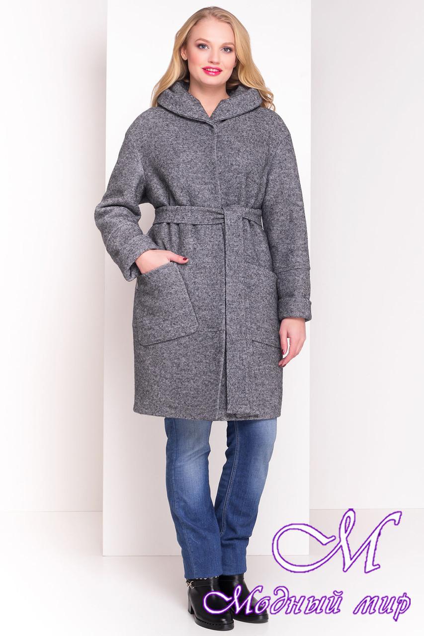 Зимнее шерстяное пальто больших размеров (р. XL, XXL, XXXL) арт. А-37-20/19290