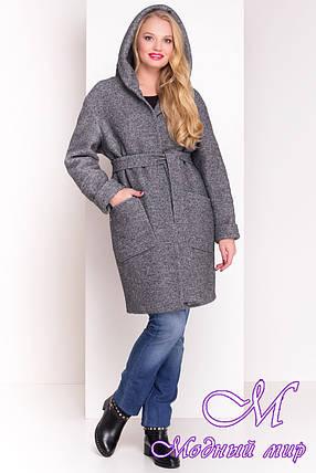 Зимнее шерстяное пальто больших размеров (р. XL, XXL, XXXL) арт. А-37-20/19290, фото 2