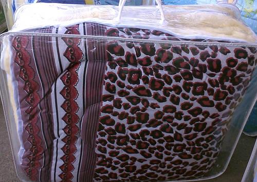 Одеяло на овчине полуоткрытое
