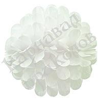 Бумажный шар цветок 30см (белый 0018)