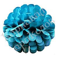 Бумажный шар цветок 30см (лазурный 0003), фото 1