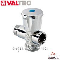 """Вентиль-тройник Valtec 1/2""""x3/4""""x1/2 для стиральных машин (VT.255.N) Италия"""