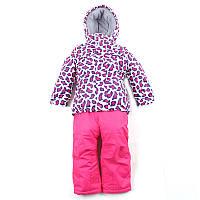 """Куртка + комбiнезон для дiвчинки """"Baby Line"""" (Зріст 92, Білий з малиновим)"""