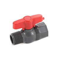 Кран шаровый Presto-PS 19 мм с наружной и внутренней резьбой 3/4 дюйма (PFV-0125)