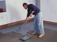 Покраска  свеуложенного или влажного бетона