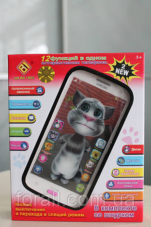 Детский интерактивный телефон Кот Том jd-1883