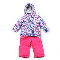 """Куртка + комбінезон для дівчинки """"Libellule"""" (Зріст 86, Малиновий)"""