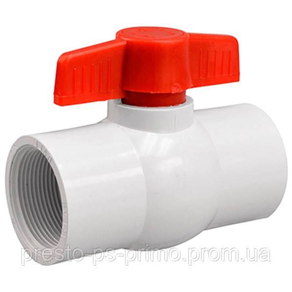Кран шаровый Presto-PS 40 мм с внутренней резьбой 1,1/2 дюйма, в упаковке - 10 шт. (PF-0150)