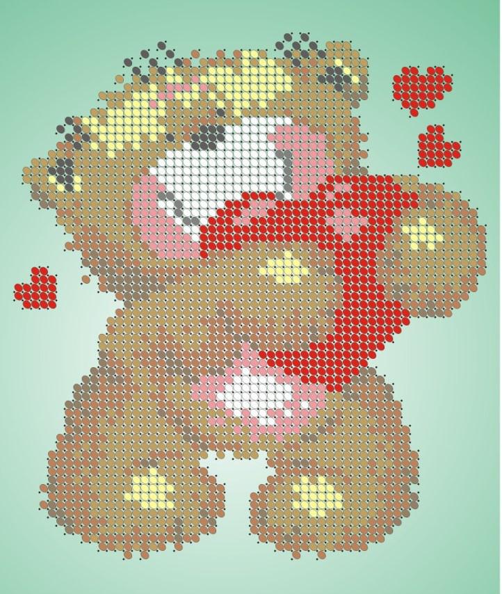 Схема для вишивки та вишивання бісером Бисерок «Мішка косолапий» (A5) 15x18 (ЧВ-2322)