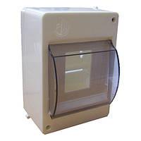Пластиковый щиток навесной ОВ-5 для 5 модульных автоматических выключателей с крышкой