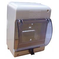 Пластиковый щиток навесной ОВ-6 для 6 модульных автоматических выключателей с крышкой