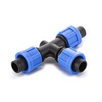 Тройник зажимной Presto-PS для капельной ленты, в упаковке - 50 шт. (TT-0117)
