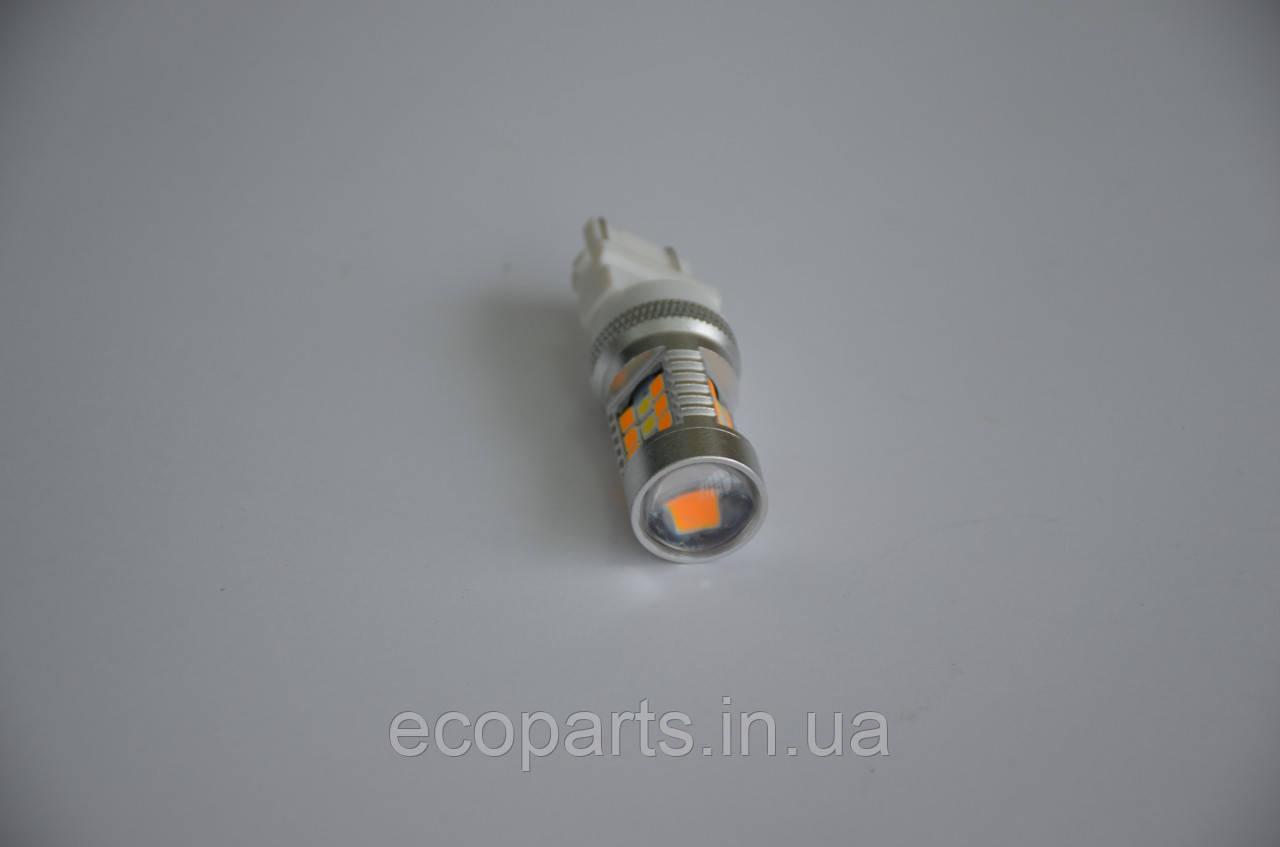 LED лампи в габарити+поворотник (перед) на Nissan Leaf (двоколірний)
