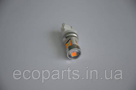 LED лампи в габарити+поворотник (перед) на Nissan Leaf (двоколірний), фото 2