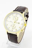 Мужские наручные часы AUDI (АУДИ), золото с белым циферблатом