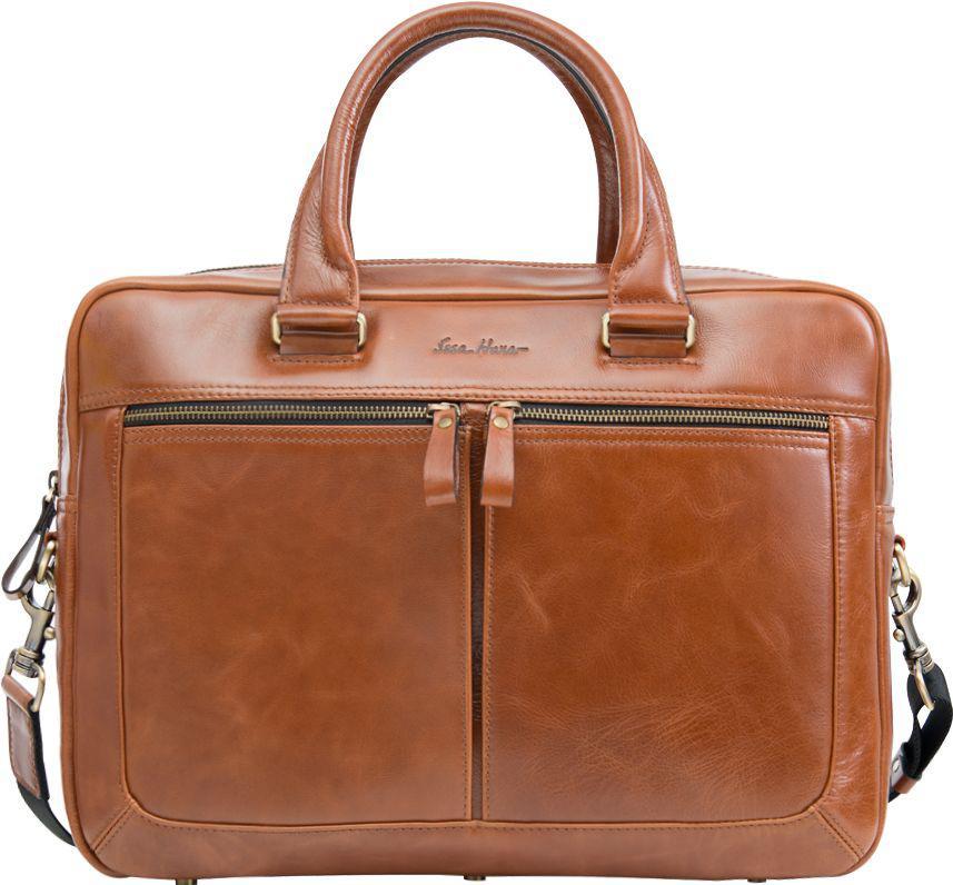 Кожаная мужская сумка-портфель Issa Hara B23 04-00