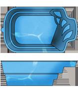"""Стаціонарний скловолоконний посилений басейн """"Комфорт"""" 5,0х3,0 глибиною 1,7 м."""
