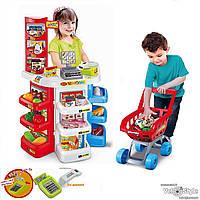 Супермаркет с тележкой 668-20 (касса,сканер,весы,продукты,деньги...)