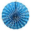 Веерный круг (картон) 30см (голубой 0001)