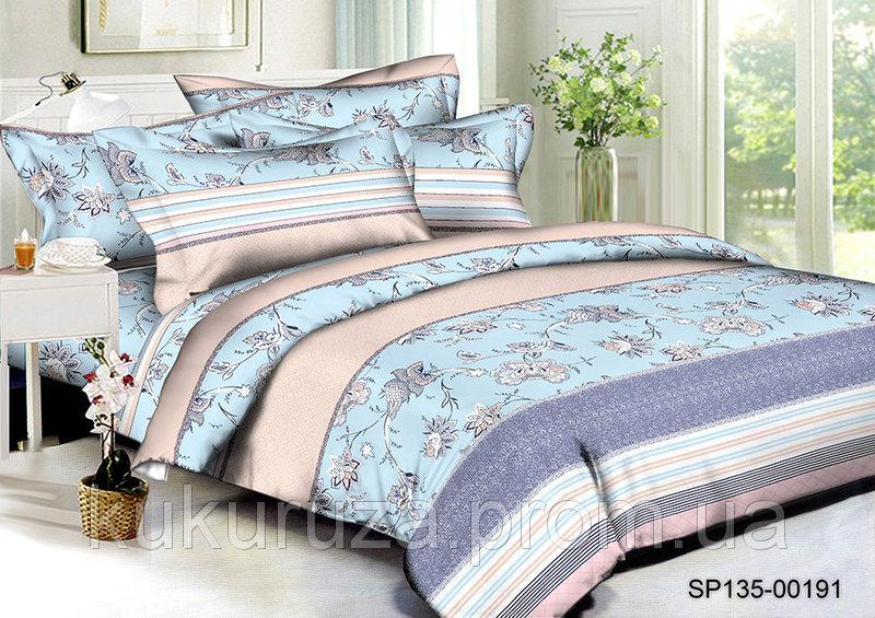 Семейный  комплект постельного белья из полисатина Флоренция