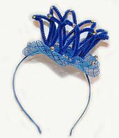 Обруч для девочки Корона синий