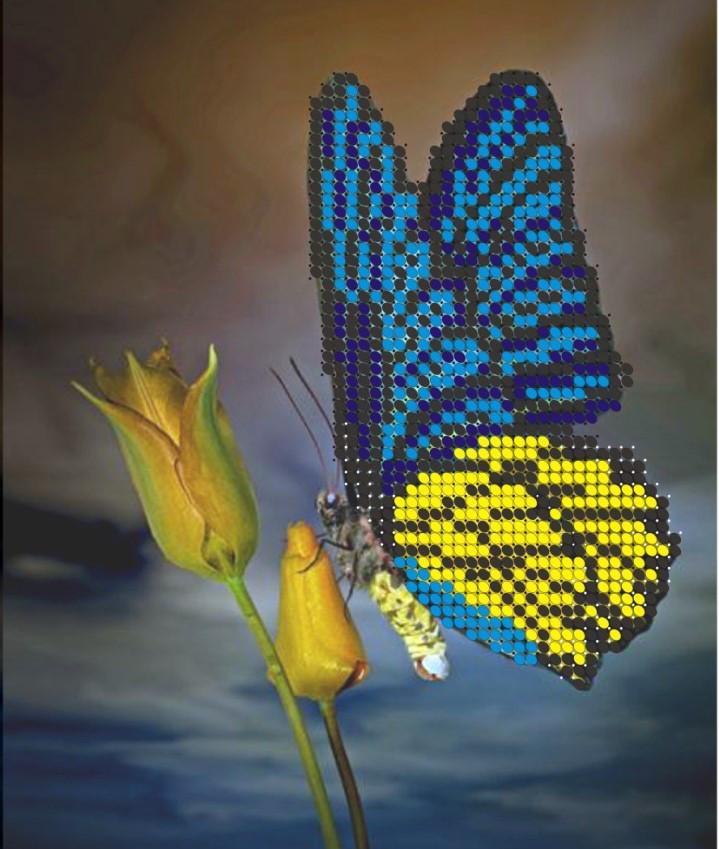 Схема для вишивки та вишивання бісером Бисерок «Метелик» (A5) 15x18 (ЧВ-2309)