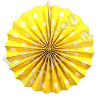 Веерный круг (картон) 30см (желтый 0019), фото 1